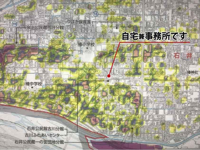 松山市のハザードマップ